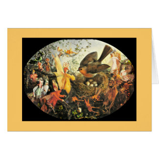 Faeries and Robin's Nest Greeting Card