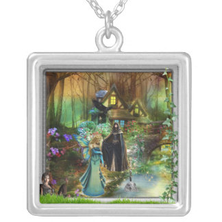 faeries and witch necklace