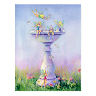 FAERIES BUBBLE BATH by SHARON SHARPE Postcard
