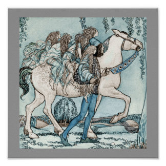 Faeries on Horseback Poster