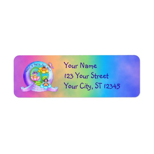 Faery Fun Day Pixel Art Return Address Label