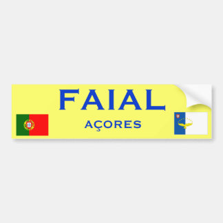 Faial* Bumper Sticker Car Bumper Sticker