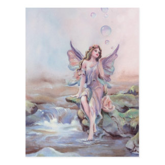 FAIERIE BUBBLES by SHARON SHARPE Postcard