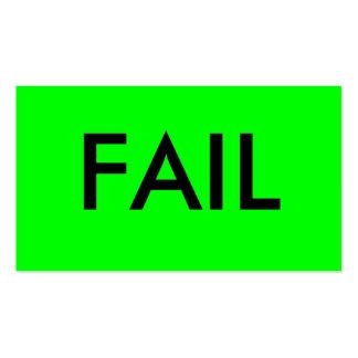 FAIL BUSINESS CARD TEMPLATES