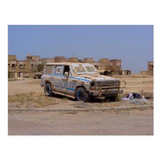 Failaka Island abandoned Car Postcard