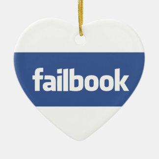 failbook Double-Sided heart ceramic christmas ornament