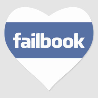 failbook heart sticker