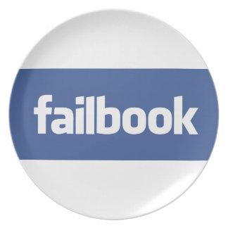 failbook party plate