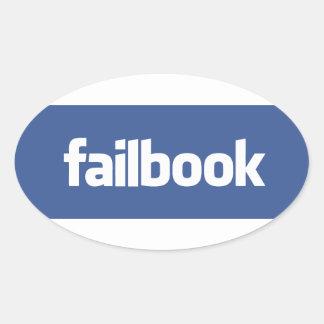 failbook oval sticker