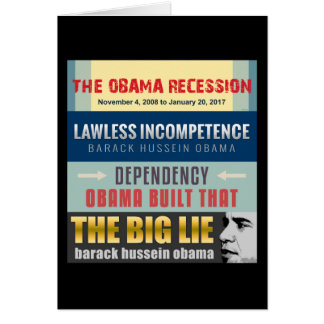 Failed President Obama Card