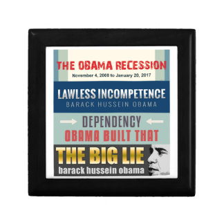 Failed President Obama Jewelry Boxes