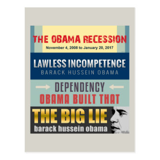 Failed President Obama Postcard