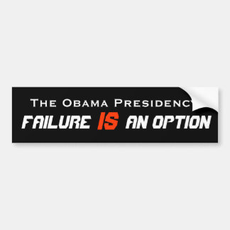 Failure IS an option Bumper Sticker