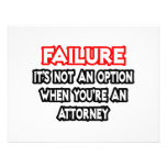 Failure...Not an Option...Attorney Personalised Invites