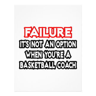 Failure...Not an Option...Basketball Coach Personalized Flyer