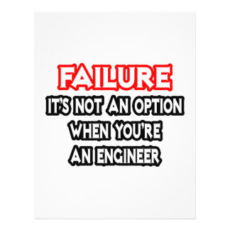 Failure...Not an Option...Engineer Personalized Flyer
