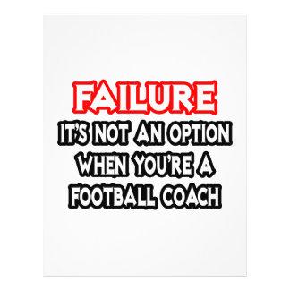 Failure...Not an Option...Football Coach Custom Flyer