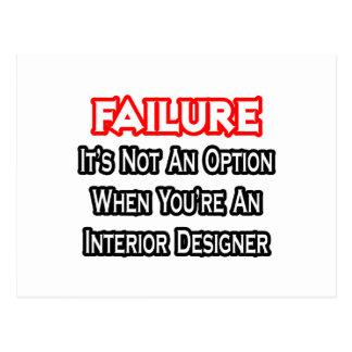 Failure...Not an Option...Interior Designer Post Cards