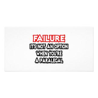 Failure Not an Option Paralegal Photo Card