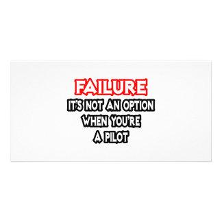 Failure Not an Option Pilot Customized Photo Card