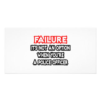 Failure...Not an Option...Police Officer Photo Card Template