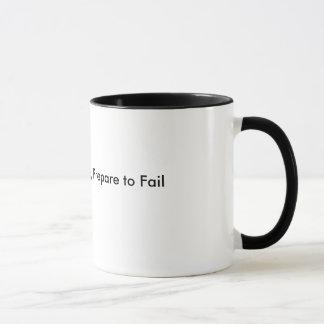 Failure to Prepare, Prepare to Fail Mug