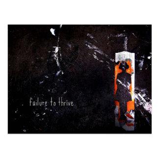 failure to thrive. postcard