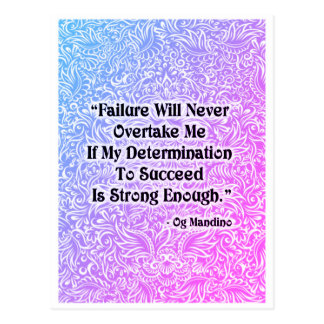 Failure Will Never Overtake - Positive Quote´s Postcard