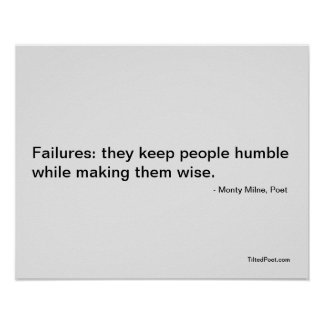 Failures - Poetry Poster