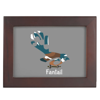 Faintail New Zealand Bird Keepsake Box