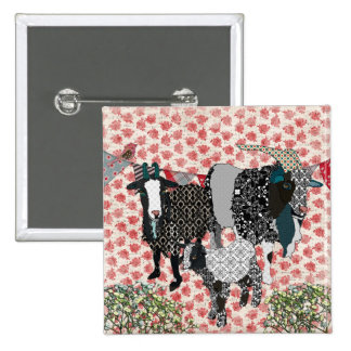 Fainting Goats Rose Button