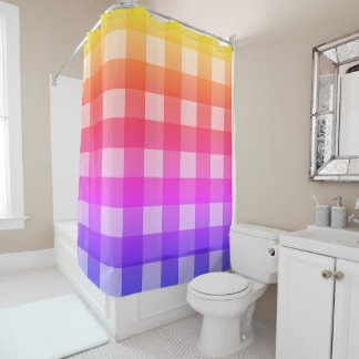 Fair and Square Rainbow Shower Curtain