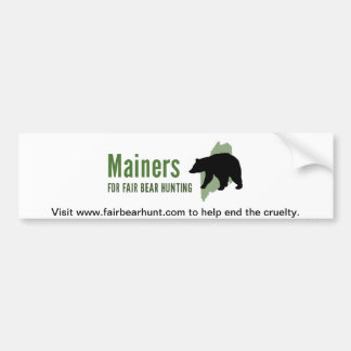 Fair Bear Hunt Bumper Sticker