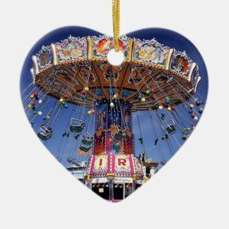 fair carnival ride ceramic heart decoration