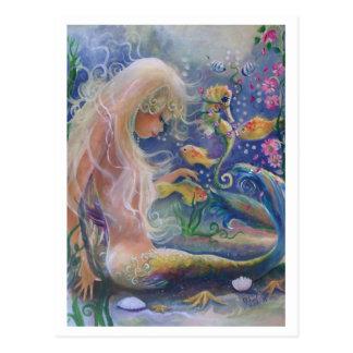 Fair Haired Mermaid Post Card