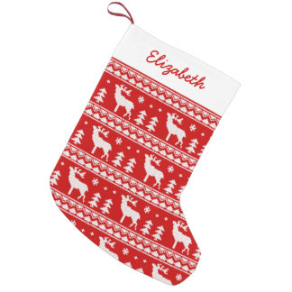 Fair Isle Christmas Sweater Pattern Small Christmas Stocking