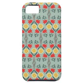 Fair isle fairisle floral retro hipster pattern iPhone 5 covers