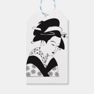 fair japanese goddess gift tags