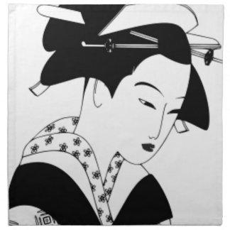 fair japanese goddess napkin