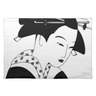fair japanese goddess placemat