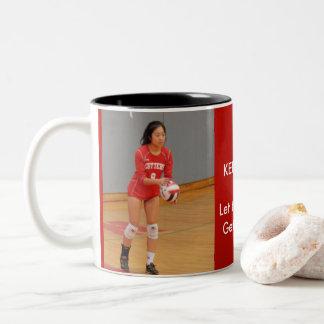 Fair Lawn Girls Volleyball Two-Tone Coffee Mug