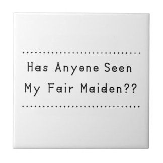 Fair Maiden Ceramic Tile