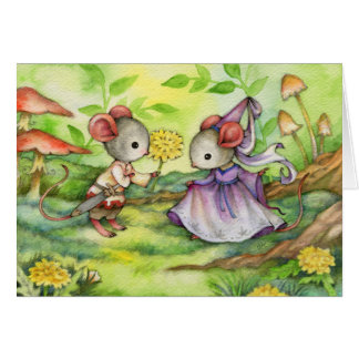 Fair Maiden - Cute Medieval Mouse Art Card