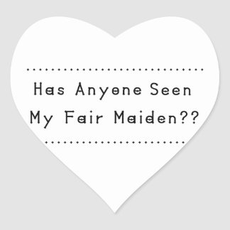 Fair Maiden Heart Sticker