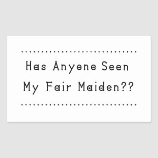 Fair Maiden Rectangular Sticker