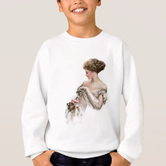 Fair Maiden Teases a Kitten Sweatshirt