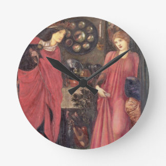 Fair Rosamund and Queen Eleanor (mixed media on pa Clocks