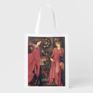 Fair Rosamund and Queen Eleanor (mixed media on pa Market Tote
