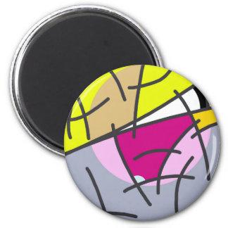 Fair skater 6 cm round magnet