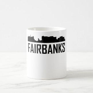 Fairbanks Alaska City Skyline Coffee Mug